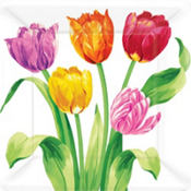Spring Tulips Lunch Plates 8ct
