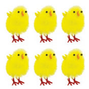 Medium Chenille Easter Chicks 6ct