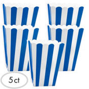 Royal Blue Popcorn Favor Boxes 5ct