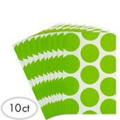 Green Dot Paper Favor Bags 10ct