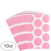 Light Pink Dot Paper Favor Bags 10ct