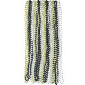 Silver, Black & Gold Bead Necklaces 24ct
