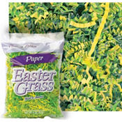 Yellow and Green Paper Easter Grass 2oz