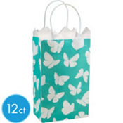 Robin's Egg  Butterfly Mini Gift Bag 12ct