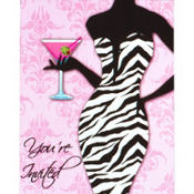 Sassy and Sweet Girls Night Out Invitations 8ct
