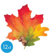 Festive Fall Leaves Cutouts 10in 3ct