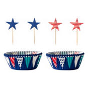 Patriotic Star Cupcake Combo Pack for 24