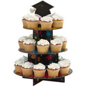 Colorful Graduation Treat Stand Holds 24