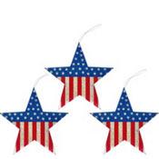 Patriotic Star Decorations 3ct