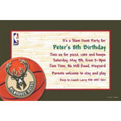 Milwaukee Bucks Custom Invitation
