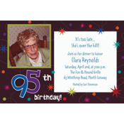The Party Continues 95 Custom Photo Invitation