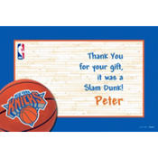 New York Knicks Custom Thank You Note