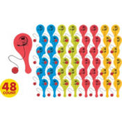 Cars 2 Mini Paddle Balls 48ct
