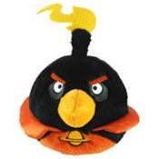 Black Angry Birds Space Plush Toy 5in