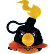 Black Angry Birds Space Backpack Clip