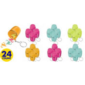 Monkey Love Monkey Game Keychains 24ct