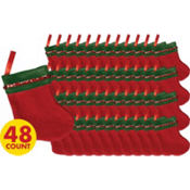 Festive Mini Stockings 5in 48ct
