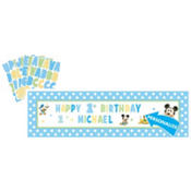 Personalized Mickey Mouse Birthday Banner 65in