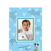 Mickey Mouse 1st Birthday Autograph Photo Mat