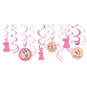 Minnie Mouse 1st Birthday Swirl Decorations 12ct