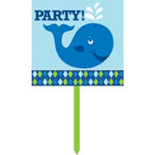 Ocean Preppy Party Yard Sign 15in