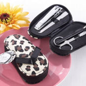 Cheetah Flip Flop Pedicure Set 4pc