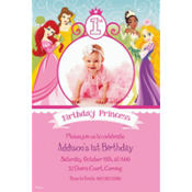 Disney Princess 1st Birthday Custom Photo Invitation
