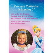 Cinderella Custom Photo Invitation