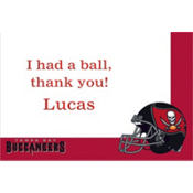 Tampa Bay Buccaneers Custom Thank You Note