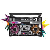 Foil Totally 80s Boombox Balloon 38in