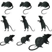 Glitter Mouse Cutouts 9ct