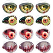 Zombie Eye Patches 12ct
