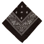 Black Bandana 20in