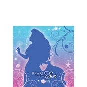 Little Mermaid Beverage Napkins 16ct