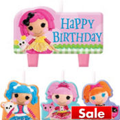 Lalaloopsy Birthday Candles 4ct