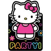 Rainbow Hello Kitty Invitations 8ct