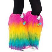 Girls Furry Hello Kitty Leg Warmers
