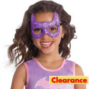 Child Glitter Batgirl Mask - Batman