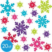 Prismatic Snowflake Cutouts 20ct
