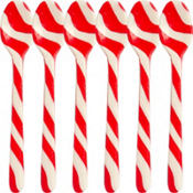 Candy Cane Spoons 6ct