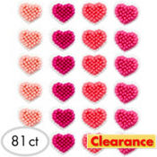 Mini Heart Icing Decorations 81ct