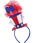 Patriotic Feather Hat Headband
