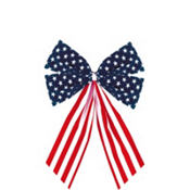 Patriotic Flag Bow