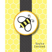 Bumblebee Baby Shower Invitations 8ct