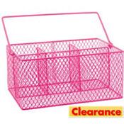 Bright Pink Wire Utensil Caddy