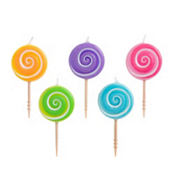 Lollipop Birthday Toothpick Candles 5ct