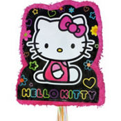 Pull String Neon Hello Kitty Pinata