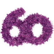 The Party Continues 60th Birthday Tinsel Hanging Decoration 11in