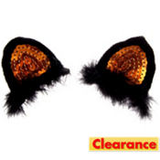Clip-On Sequin Cat Ears 2ct