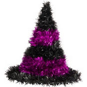 Purple Tinsel Witch Hat